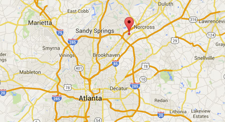 Map to Atlanta Office