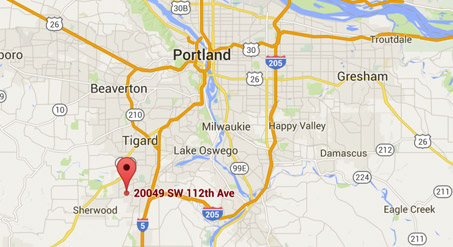 Map to Tualatin Office